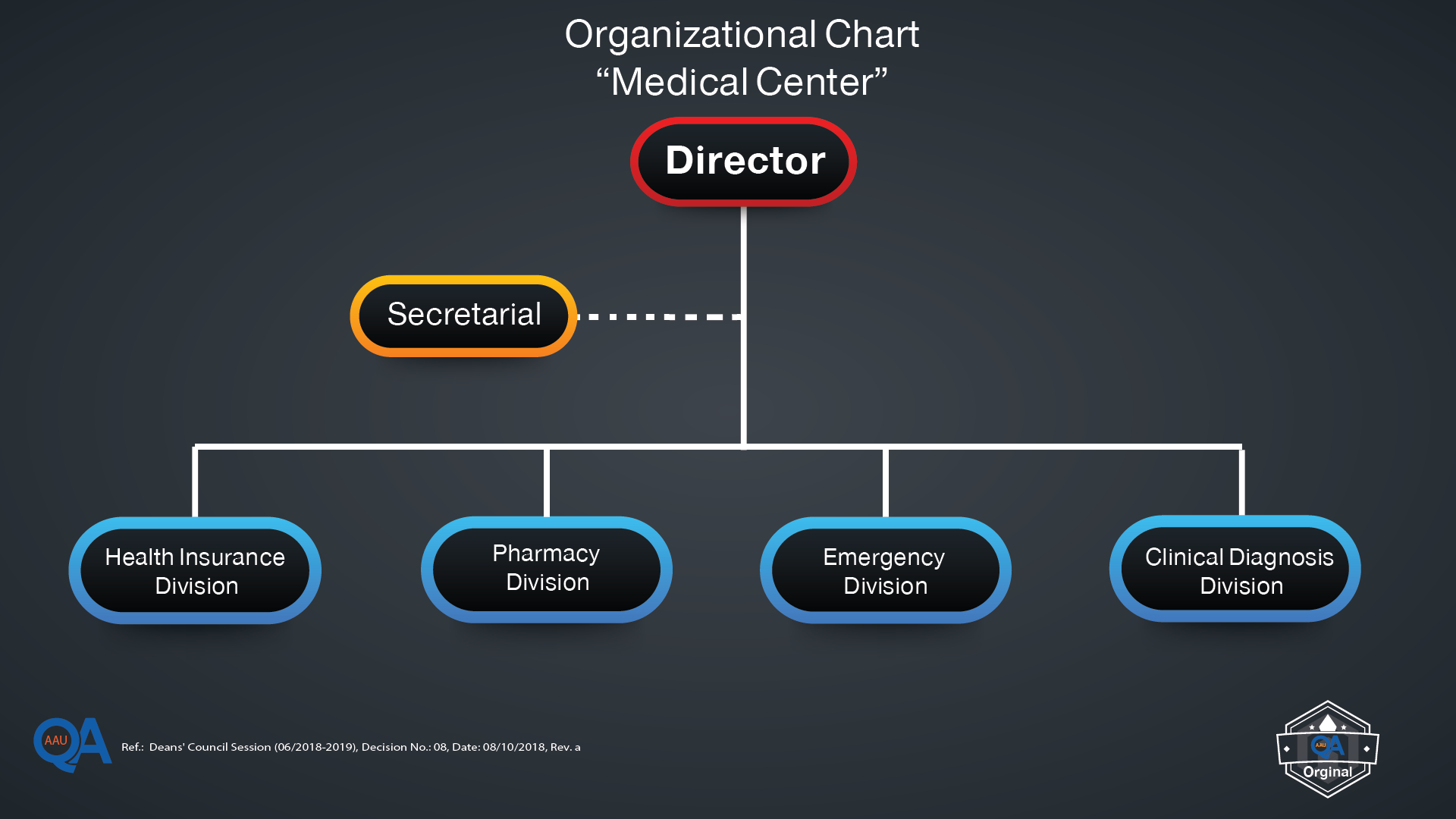 Organizational Chart for the Medical Center-01